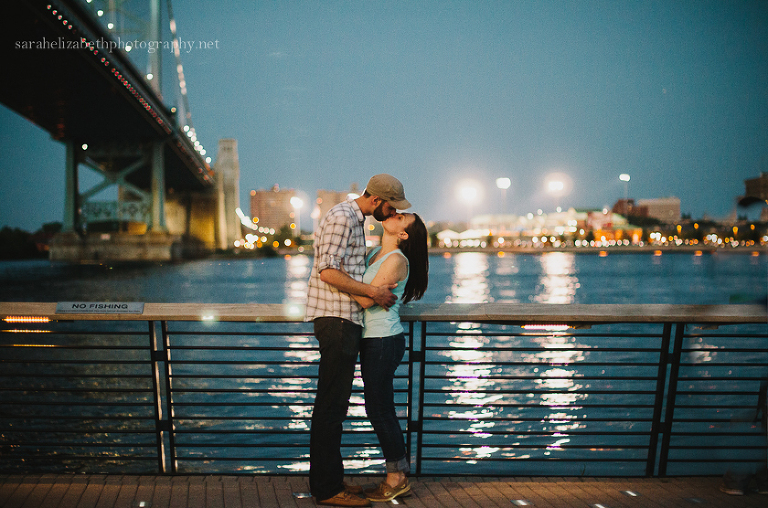 Race Street Pier Sunset Engagement Session