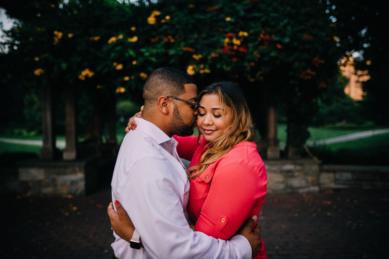 philadelphia art museum sunset engagement photos