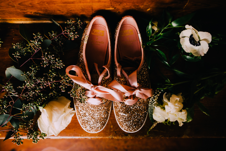 sparkly bridal sneakers pink